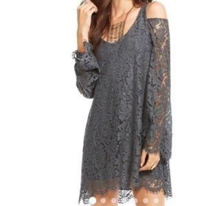 Chaser Vintage Lace Cold Shoulder Dress